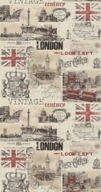 Noordwand Les Aventures 51135407 london Engels Vintage behang
