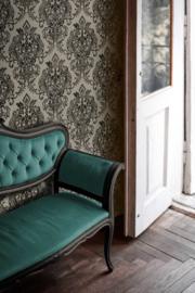 Grijs barok behang 37681-3