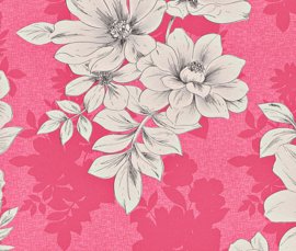bloemen behang roze 209525