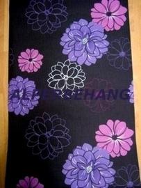 bloemen behang zwart roze paars 555