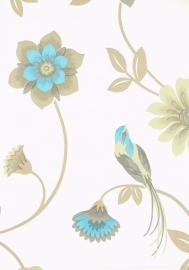 flowers & birds bloemen vogel behang 1214-5