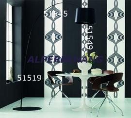 retro behang zwart wit 287