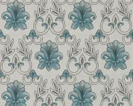 hermitage 9 9434-61 blauw grijs barok behang
