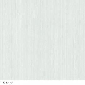 Uni Wit lijntjes Behang met glitter  13313-10