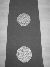 zwart zilver retro behang 0051