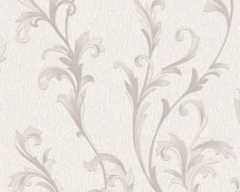 behang glitter creme zilver barok 32476-4