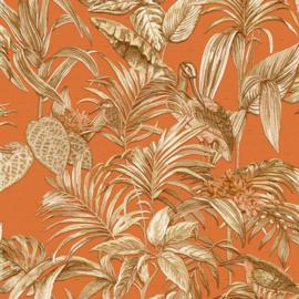 Vogel Behang tropical  exotic Wallstitch De120019