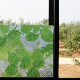 statische raamfolie groene bladeren xx412