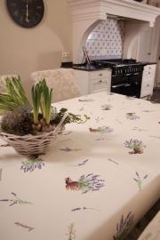 150-114 creme paars plant tafelzeil
