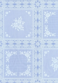 kant tafelzeil tafelkleed  blauw wit ptx05