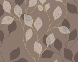 as creation mila 939673 bruin modern bloemen behang