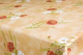 150-182 creme rood groen planten tafelzeil