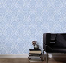 Barok behang blauw 02508-40