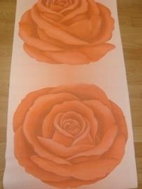 rozen oranje vlies behang 11