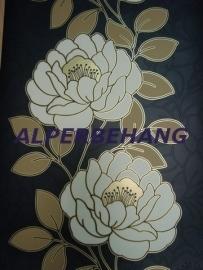 rozen behang zwart wit goud 581
