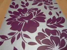 zilver paars modern bloemen vlies behang 138