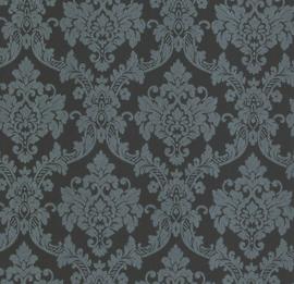 Barok behang zwart glitter 13701-10