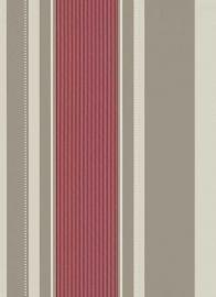 creme rood glim strepen behang Erismann 9728-06