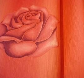 rood rozen behang bloemen 16