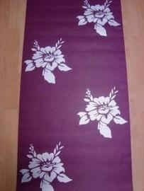 modern bloemen behang paars zilver 74