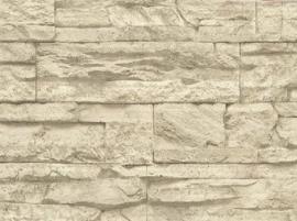 grijs beige natuursteen vlies behang  27