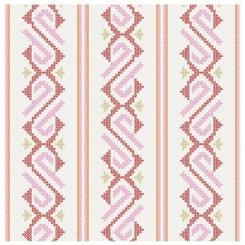 cozz kids 4022 roze creme behang