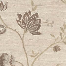 lambrisering behang bruin bloemen hardvinyl  xx3