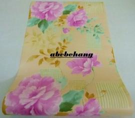 chinees bloemen vinyl behang rose paars goud x10