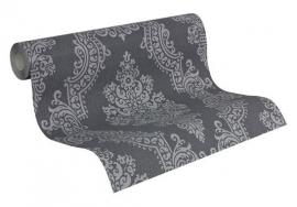 barok grijs vlies behang x45