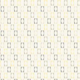 Geel grijs retro behang as creation 35118-4
