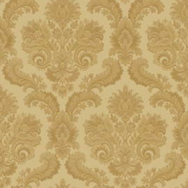 barok behang vintage damask noordwand geel goud 8043