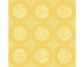 Retro behang geel 862218