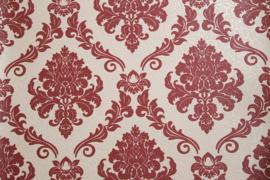 Rood barok behang met glitter 1368-15