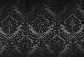 barok vinyl behang zwart 3d 26
