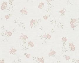 Engelse bloemen roze A.S. CRÉATION Behang 30522-3