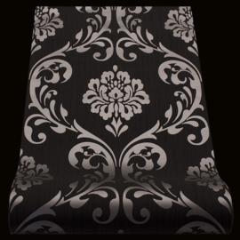 Zwart metalic barok behang vlies xxx82
