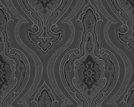 Barok grijs behang vlies 96107-2