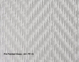 Intervos Wall-Structure PP-15 Glasvlies Pre-Painted visgraat grof 50x1M