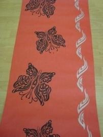 opruiming rood zwart vlinders behang  98