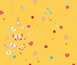 Rasch Kids Club 231038 Vlinders behang geel