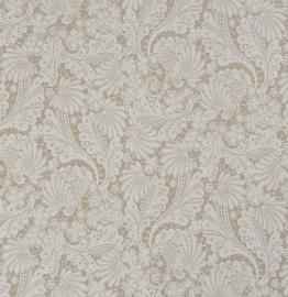 kant behang beige wit Ornamentals 48644
