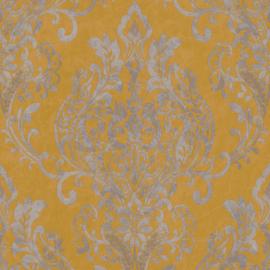 Geel barok behang 37681-2