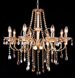 Kroonluchter klassiek diamant hanglamp goud 51608
