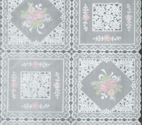 kant tafelzeil tafelkleed groen rose bloemetjes  ptx13