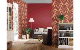 behang barok rood goud 546101