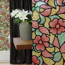bloemen raamfolie plak raamdecoratie xx241
