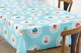 150-017 blauw cupcakes tafelzeil