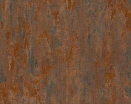 Beton behang bruin koper 32651-1