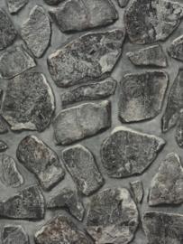steen behang 3d grijs xx115