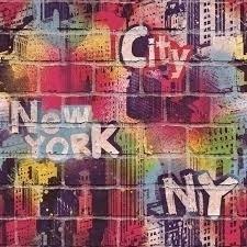 Dutch Jet Setter behang J674-10 Graffiti New York